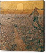 Van Gogh: Sower, 1888 Canvas Print
