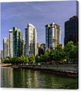 Waterfront Of Vancouver, Canada Canvas Print
