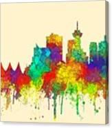 Vancouver B.c. Skyline Canvas Print
