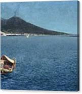 Veduta Del Vesuvio Canvas Print