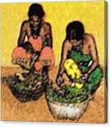 Vegetable Sellers Canvas Print