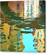 Venetian Mirror - Venice In Water Reflections Canvas Print