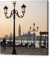 Venice At Sunset Canvas Print