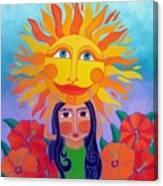Verano Amor Canvas Print
