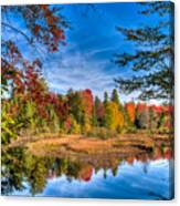 View From The Lock And Dam Trail Canvas Print