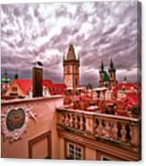 View From The Top In Prague Canvas Print