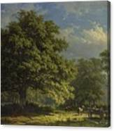 View In The Bentheim Forest, George Andries Roth, 1870 Canvas Print