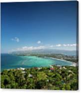 View Of Boracay Island Tropical Coastline In Philippines Canvas Print