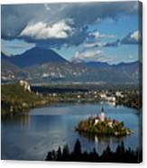View Of Lake Bled From Ojstrica Canvas Print