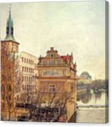 View On A River Canvas Print