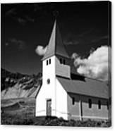 vik church Vik i Myrdal Iceland Canvas Print
