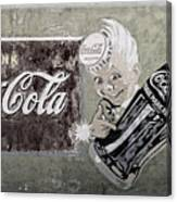 Vintage 1916 Hand Painted Coca Cola Sign Canvas Print