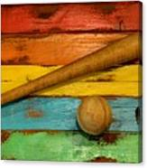 Vintage Baseball Display Canvas Print