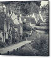 Vintage Photo Effect Medieval Arlington Row In Cotswolds Country Canvas Print
