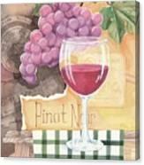 Vintage Pinot Noir Canvas Print