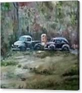 Vintage Vehicles Canvas Print