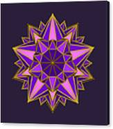Violet Galactic Star Canvas Print