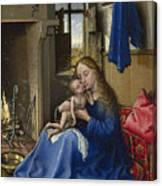 Virgin And Child In An Interior Canvas Print