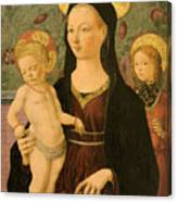 Virgin And Child With An Angel Canvas Print