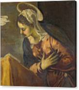 Virgin From The Annunciation To The Virgin Canvas Print