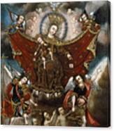 Virgin Of Carmel Saving Souls In Purgatory Canvas Print