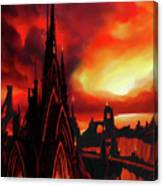 Volcano Castle Canvas Print