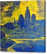 Vrindavan Spiritual Sky Canvas Print