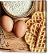 Waffles And Eggs Canvas Print