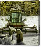Waiting Out The Snow Canvas Print