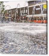 Wakefield City Centre Fountain Canvas Print