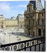 Walking At The Louvre Canvas Print