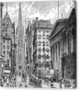 Wall Street, 1889 - To License For Professional Use Visit Granger.com Canvas Print