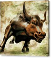 Wall Street Bull Vii Canvas Print