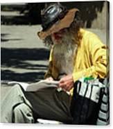 Walt Reading  Canvas Print