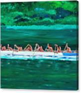 war canoe races 1977 Nooksack tribe Wa  Canvas Print