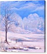 Warm Cold Day Canvas Print