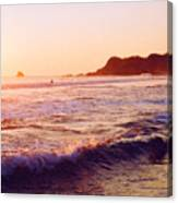 Warm Sunset In Zipolite 3 Canvas Print