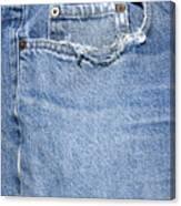 Worn Jeans Canvas Print