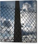 Washington Monument Through Fence Canvas Print