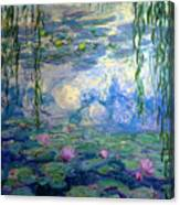 Water Lilies, Nympheas, By Claude Monet,  Musee Marmottan Monet, Canvas Print