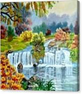 Waterfall After Monsoon Canvas Print