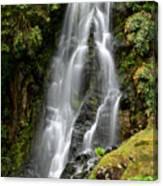 Waterfall At Azores Canvas Print