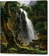 Waterfall At Mont-dore Canvas Print