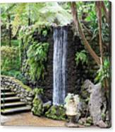 waterfall in tripcal garden Monte Madeira Canvas Print