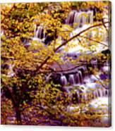 Waterfalls And Fall Colors Canvas Print
