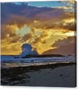 Waves At Sunrise Canvas Print