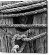 Weathered Rope Canvas Print