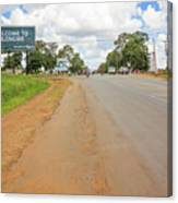 Welcome Sign To Lilongwe In Malawi. Canvas Print