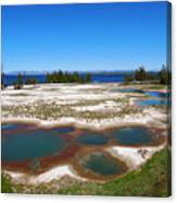 West Thumb Geyser Basin In Yellowstone National Park Canvas Print