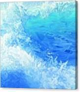 Wet Violet Canvas Print